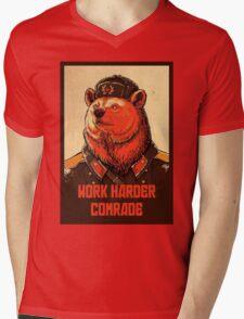 Work Harder Comrade Mens V-Neck T-Shirt