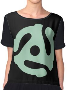 vinyl record green adapter Chiffon Top