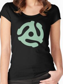 vinyl record green adapter Women's Fitted Scoop T-Shirt