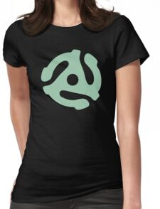 vinyl record green adapter Womens Fitted T-Shirt