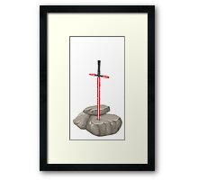 Saber in the Stone Framed Print
