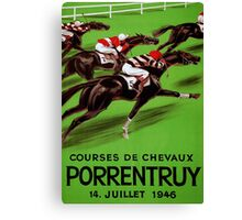 Vintage horse racing sport and travel advert Canvas Print