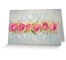 Love Amour Greeting Card