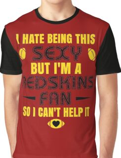 Redskins Fan Girl Quote Graphic T-Shirt