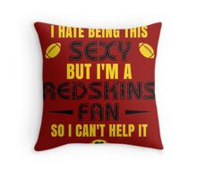 Redskins Fan Girl Quote Throw Pillow