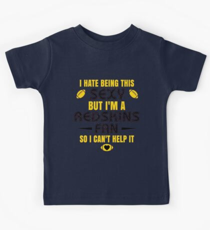 Redskins Fan Girl Quote Kids Tee