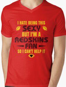 Redskins Fan Girl Quote Mens V-Neck T-Shirt