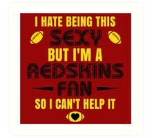 Redskins Fan Girl Quote Art Print