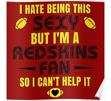 Redskins Fan Girl Quote Poster
