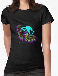 ELO Glastonbury 2016 unigrid rainbow Logo Womens Fitted T-Shirt