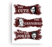 the cute, the cannibal and the joker (Will Hannibal Mason) Canvas Print