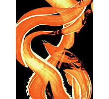 Fire Water 302 By Sharon Cummings - Orange And Yellow Abstract Art Painting Photographic Print