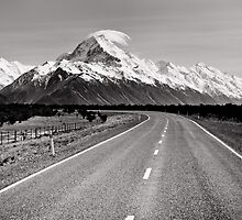 Road to Mt Cook by Shaun Jeffers Photography