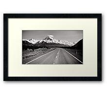 Road to Mt Cook Framed Print