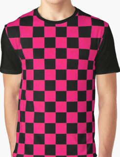 RADIANT BLACK AND RED CHECKERED DESIGN Graphic T-Shirt