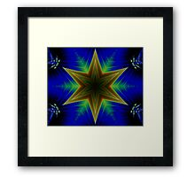 Shadow Star by Riptider Red Framed Print