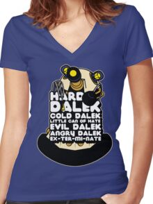 Hard Dalek Cold Dalek New Design Women's Fitted V-Neck T-Shirt