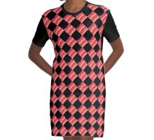ABSTRACT MULTI COLOR ABSTRACT PRINT Graphic T-Shirt Dress
