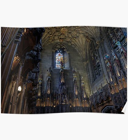 The Thistle Chapel in St Giles Cathedral, Edinburgh Poster
