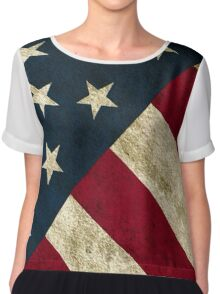 USA Flag - Diagonal Chiffon Top