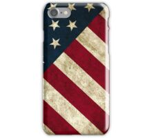 USA Flag - Diagonal iPhone Case/Skin