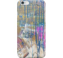Blue Pink Yellow abstract iPhone Case/Skin