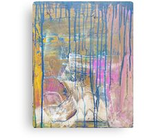Blue Pink Yellow abstract Metal Print