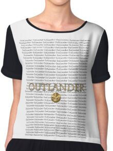 Outlander multiple title and thistle.  Chiffon Top