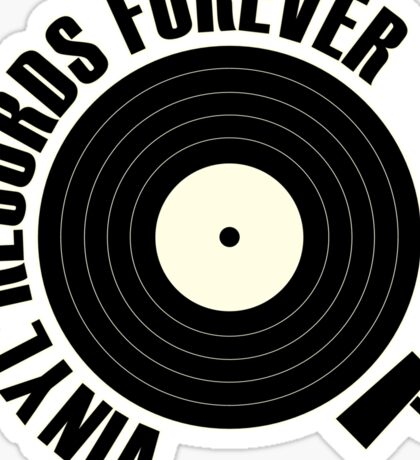 vinyl record black Sticker