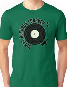vinyl record black Unisex T-Shirt