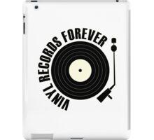 vinyl record black iPad Case/Skin
