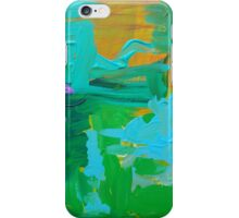 Green Blue Purple Abstract iPhone Case/Skin