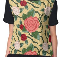 ROSES IN PIXEL Chiffon Top