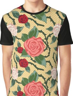 ROSES IN PIXEL Graphic T-Shirt