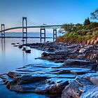 Newport Bridge Sunrise from Taylor Point by Joshua McDonough