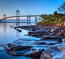 Newport Bridge Sunrise from Taylor Point by mcdonojj