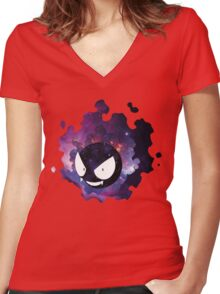 Galaxy Gastly Women's Fitted V-Neck T-Shirt