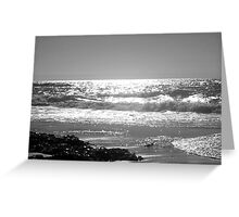 Constantine Bay Black and White Greeting Card