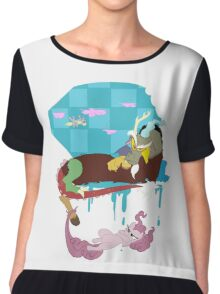 Discord - Chaos and Laughter Chiffon Top