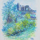 Halton Castle From St. Mary's Church by Barbara Smith