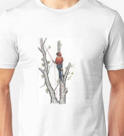 Arborist Tree Surgeon Lumberjack Logger Stihl chainsaw Unisex T-Shirt