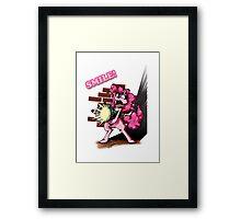 Pinkie Bazooka - Smile Framed Print