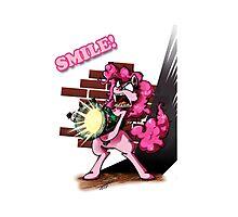 Pinkie Bazooka - Smile Photographic Print