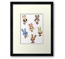 Animal Crossing - Bunny Set 1 Framed Print