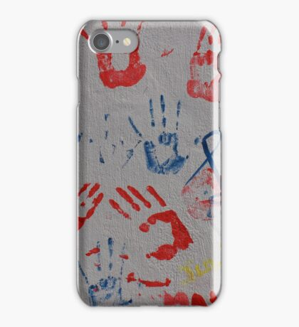 Abstract Hand Prints iPhone Case/Skin