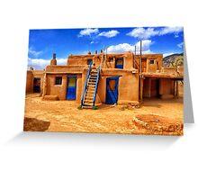 Pueblo, Taos, New Mexico Greeting Card