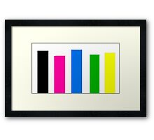 Pentatonix rectangle design  Framed Print