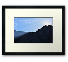 Sun Rises Over Idwal Slabs, Snowdonia Framed Print