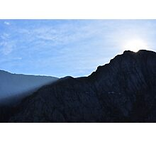 Sun Rises Over Idwal Slabs, Snowdonia Photographic Print