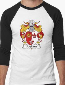 Arellano Coat of Arms/ Arellano Family Crest Men's Baseball ¾ T-Shirt